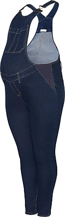 Yours Clothing Clothing Womens Bump IT UP Maternity Denim Dungarees Size 20 Blue