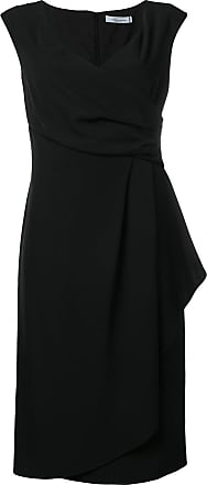 Blumarine draped midi dress - Preto