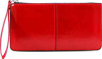 LeahWard Womens Faux Leather Wristlet Purse Nice Bag Great Brand Purses 20146 (RED)