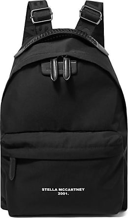 2da6c9282d8f Stella McCartney The Falabella Go Faux Leather-trimmed Printed Shell  Backpack - Black