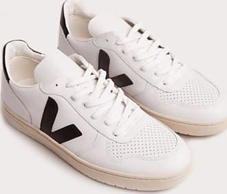 Veja V-10 Leather Sneaker white black