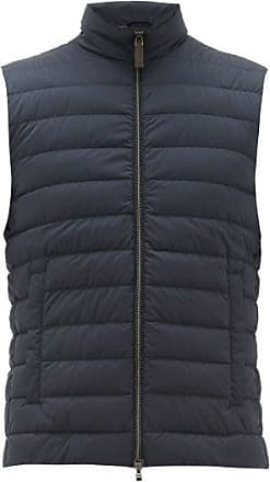 Herno High-neck Down-quilted Gilet - Mens - Navy