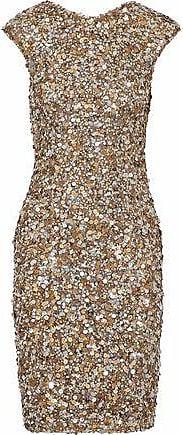 Rachel Gilbert Rachel Gilbert Woman Sequined Tulle Dress Gold Size 0
