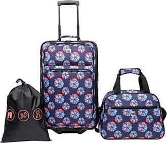 Skyline Furniture 3pc Luggage Set - Blue Floral