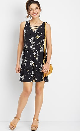 6d29f2b1181 Maurices 24 7 Floral Lattice Swing Dress