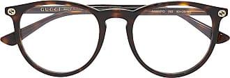 Gucci Óculos detalhe efeito de tartaruga - Marrom