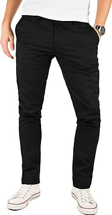 Yazubi Mens Trousers Chinos Pants Kyle - Skinny Slim Dark Jet Matte, Black (4R194008), W33/L30