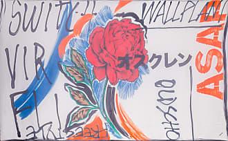 Osklen LENÇO FEMININO WALL PLANT - OFF WHITE
