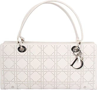 ad8ca7c258b1 Dior Lady Dior White Leather East West Studded Bag