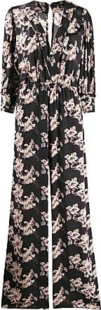 Iro floral v-neck gown - Black