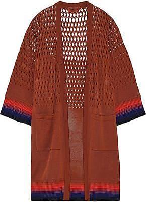 Missoni Missoni Woman Open Knit-paneled Cotton Cardigan Brick Size 40