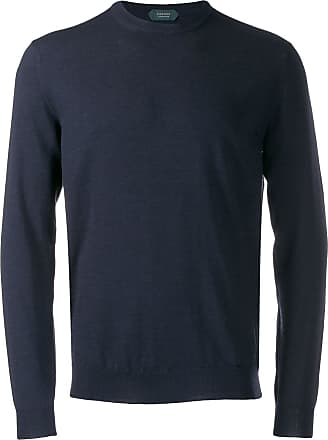 Zanone crew-neck knit sweater - Blue