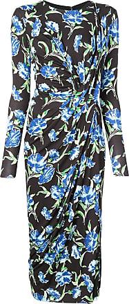 Jason Wu Vestido midi floral - Preto