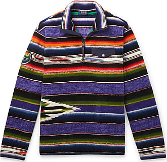 Polo Ralph Lauren Logo-appliquéd Printed Fleece Half-zip Sweater - Multi