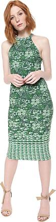 Colcci Vestido Colcci Midi Estampado Verde