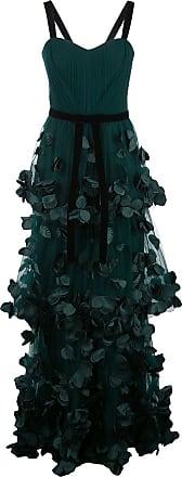 Marchesa flower-embellished maxi dress - Green