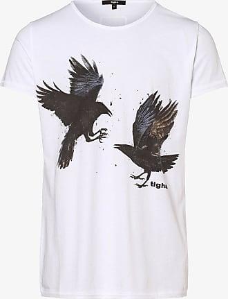 Tigha Herren T-Shirt - Ravens Wren weiss