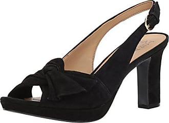 Naturalizer Womens Fawn Heeled Sandal, Black Suede, 6 Medium US