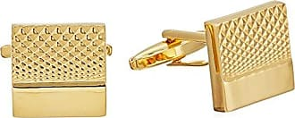 Stacy Adams Stacy Adams Mens Gold Square Crosshatch Cuff Link, One size