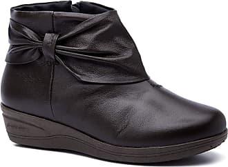 Doctor Shoes Antistaffa Bota Feminina 158 em Couro Café Doctor Shoes-Café-37
