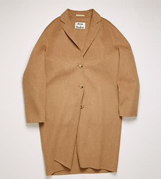 Acne Studios FN-WN-OUTW000218 Camel melange Single-breasted wool coat