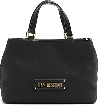 Love Moschino Black Handbag with Gold Logo and Shoulder Strap - JC4015PP1A LB100A - Size - Black - One size