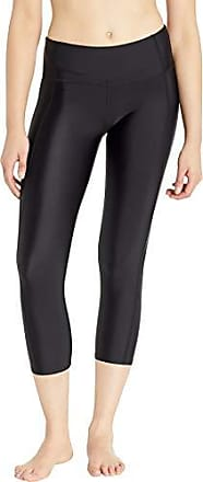 Body Glove Womens Smoothies Roam Solid Hybrid Surf Capri Swimsuit with UPF 50, Black, Medium
