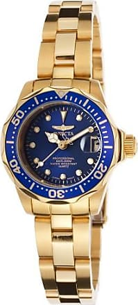 Invicta Pro Diver Blue Dial Gold-plated Ladies Watch 17036