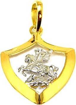 Prado Joias Pingente Em Ouro 18k São Jorge Pequeno 2 Cores