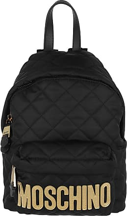Moschino Quilted Logo Backpack Small Black Rucksack schwarz