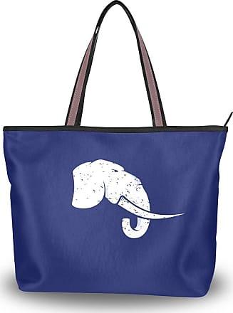 Lorona Women Nice Logo With An Elephant Canvas Shoulder Hand Bag Large Capacity Tote Bag
