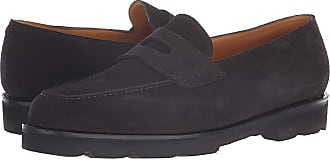 354bee4959c John Lobb Lopez Suede Loafer (Black) Mens Slip on Shoes