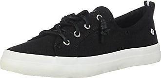 Sperry Top-Sider Sperry Womens Crest Vibe Linen Sneaker, Black, 8.5 M US