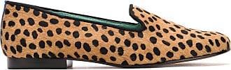 Blue Bird Shoes Loafer pelo onça Cheetah - Neutro