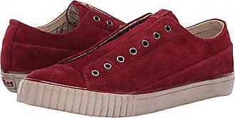 John Varvatos Washed Suede Low Top (Poppy) Mens Shoes