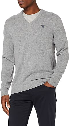 GANT Mens Md Extrafine Lambswool Zip Card Sweater