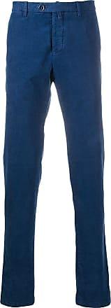 Kiton straight-leg corduroy trousers - Blue