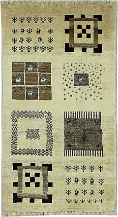 Nain Trading 109x61 Handknotted Persian Gabbeh Loribaft Rug Dark Brown/Dark Green (Wool, Iran/Persia)
