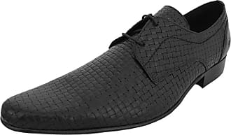 Ikon Original Mens Buckler Woven Winklepicker Mod Shoe Black 10 UK/44 EU