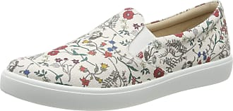 Hotter Womens Tara Extra Wide Slip On Trainers, Off-White (Meadow Floral 319), 4.5 (37.5 EU)