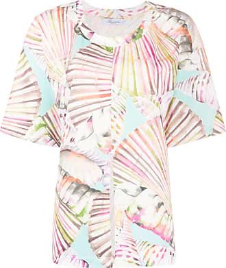 Blumarine Camiseta com estampa tropical - Branco