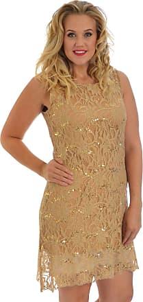 Nouvelle Collection Flapper Lace Dress Gold 20-22