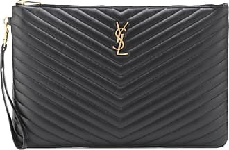 Saint Laurent Bustina Monogram in pelle