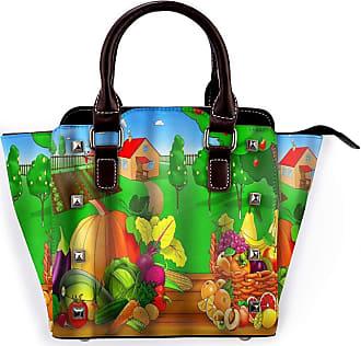 Browncin Autumn Harvest Vegetable And Fruit In Rustic Farmhouse Detachable Fashion Trend Ladies Handbag Shoulder Bag Messenger Bags
