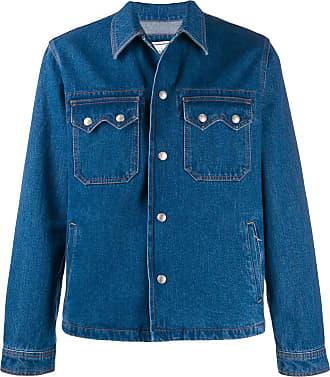 Ami Jaqueta jeans com botões de pressão - Azul