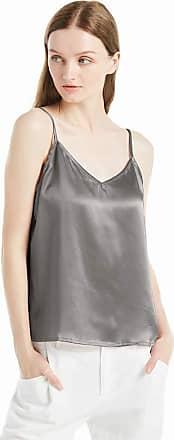 LilySilk Womens Silk Camisole Vest Lingerie Ladies Tank Top 22 Momme Charmeuse Silk (XL/18, Dark Grey)