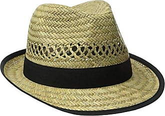 f8260a8e05c29d San Diego Hat Company Womens Fedora with Grossgrain Trim, Natural/Black, One  Size