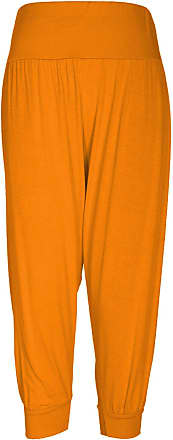 The Celebrity Fashion Womens Plus Size Ali Baba Baggy Stretch Fit Shorts Cropped Harem Trouser Pants Neon Orange