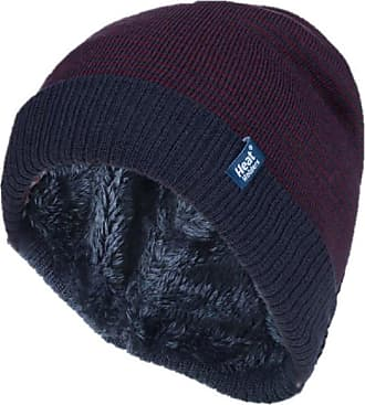 Heat Holders Mens Genuine - HEAT HOLDERS Heatweaver Hats - BRAND NEW DESIGNS (Denim/Burgundy - HORTEN)