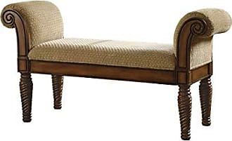 Coaster Fine Furniture Upholstered Bench with Rolled Arms Brown and Camel